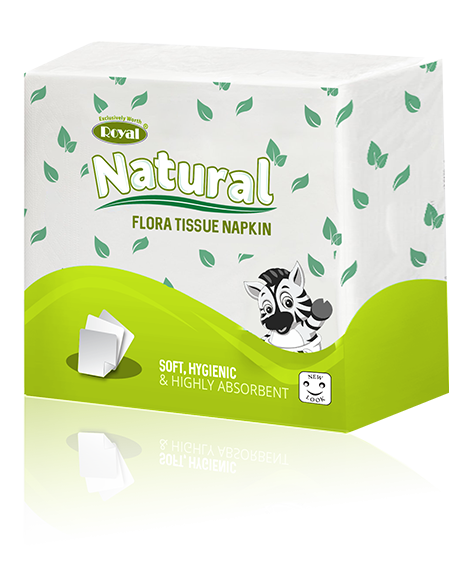 Royal Flora Napkin 100 Sheets in Pack of 1